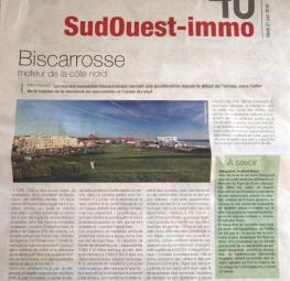 Revue de presse : Suplément Journal SudOuest-Immo 40 du 21/06/2016