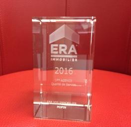 Trophée du réseau ERA immobilier 2016
